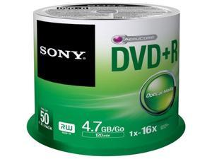 SONY 4.7GB 16X DVD-R 50 Packs Disc