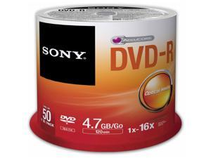 Sony DVD Recordable Media - DVD-R - 8x - 4.70 GB - 50 Pack Spindle