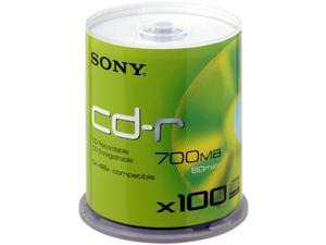SONY 700MB 48X CD-R 100 Packs Disc Model 100CDQ80SP