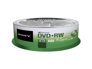 SONY 4.7GB 4X DVD-RW 25 Packs Disc Model 25DPW47SPM