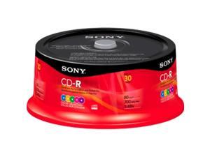 Sony CD Recordable Media - CD-R - 48x - 700 MB - 30 Pack Spindle