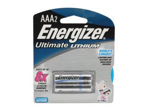 Energizer  L92BP-2 AAA Lithium 2-pack Batteries