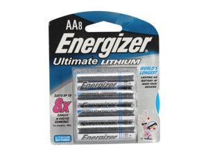 Energizer  L91BP-8 AA Lithium 8-pack Batteries