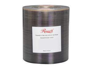 Rosewill 4.7GB 16X DVD-R 100 Packs Disc Model RCDM-10003