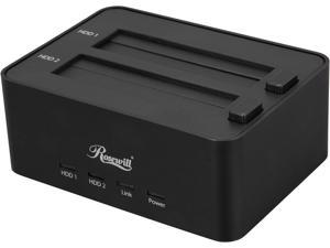 "Rosewill RDDO-13002 - Dual Bay Docking Station for 2.5"" & 3.5"" HDDs - Black, SATA USB 2.0 & eSATA, Rigid Aluminum Casing ..."