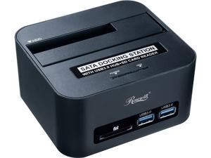 "Rosewill RX303-PU3-35B - 2.5"" & 3.5"" SATA Hard Drive Docking Station - USB 3.0 Connection to Computer, SD Memory Card Reader and 2 x USB 3.0 Ports"