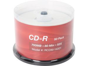 Rosewill 700MB 52X CD-R 50 Packs Spindle Disc