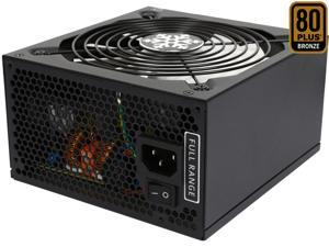 Rosewill Glacier-500M, Glacier Series 500W Modular Power Supply with Silent Aero-Diversion Fan, 80 PLUS Bronze Certified, Single +12V Rail, Intel 4th Gen CPU Ready, SLI & Crossfire Ready