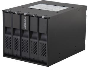 "ICY DOCK MB975SP-B Tray-less 5 Bay 3.5"" SATA Hard Drive Hot Swap Backplane Cage in 3x External 5.25"" Bay"