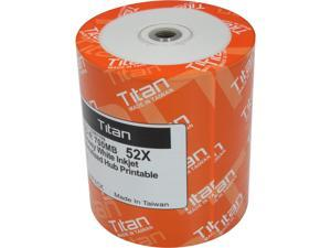 Titan 700MB 52X CD-R White Inkjet Printable 100 Packs Disc Model T5881199