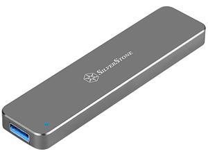 SilverStone SST-MS09C M.2 SATA External SSD Enclosure with USB 3.1 Gen 2