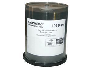 Aleratec 700MB 52X CD-R LightScribe V1.2 100 Packs Disc Model 110116