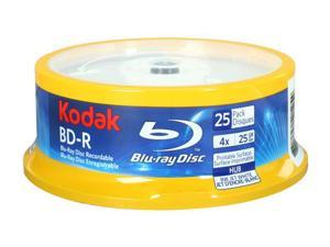 Kodak 25GB 4X BD-R Inkjet Printable 25 Packs Disc Model 52125