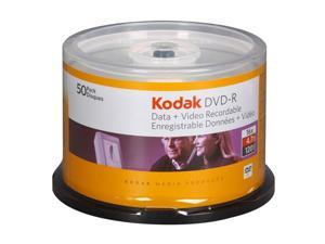 Kodak 4.7GB 16X DVD-R 50 Packs Disc Model 50250