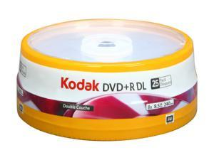 Kodak 8.5GB 8X DVD+R DL 25 Packs Disc Model 50120