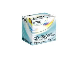TDK 700MB 52X CD-R 20 Packs Disc