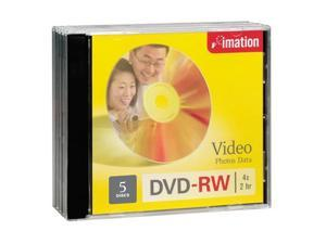 imation 4.7GB 4X DVD-RW 5 Packs Disc