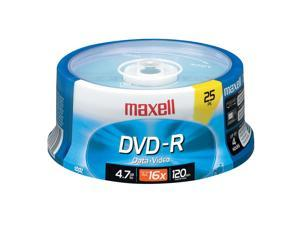 maxell 4.7GB 16X DVD-R 25 Packs Disc Model 638010