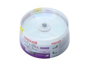 maxell 8.5GB 8X DVD+R DL 25 Packs Disc Model 634081