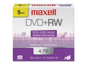 maxell 4.7GB 4X DVD+RW 5 Packs Disc Model 634045
