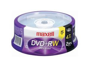maxell DVD+RW 15 Packs Disc Model 634046