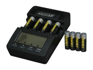 POWEREX MH-C9000 WizardOne Charger-Analyzer w/8pcs 2700mAh AA Rechargeable Batteries (Made in Japan)