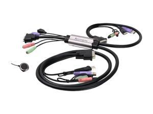 IOGEAR GCS932U MiniView Micro DVI-D KVM with Audio and Cables