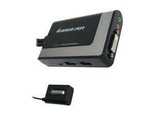 IOGEAR GCS932UB 2-Port USB DVI KVM with Audio and Mic.