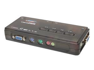 LINKSKEY LKV-S04ASK 4-port Slim Palmtop PS/2 KVM switch with Audio & Mic