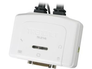 TRENDnet TK-214I 2-Port DVI USB KVM Switch Kit with Audio