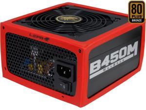 LEPA MaxBron B450-MB 450W ATX CrossFire Ready 80 PLUS BRONZE Certified Active PFC Power Supply