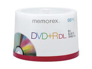 memorex 8.5GB 8X DVD+R DL 50 Packs Disc Model 05732 - OEM