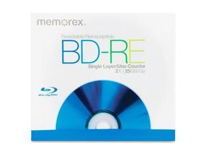 memorex 25GB 2X BD-RE Single Disc Model 05502