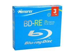 memorex 25GB 2X BD-RE 3 Packs Disc Model 97947