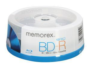 memorex 25GB 4X BD-R 15 Packs Disc Model 97854