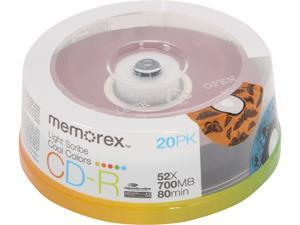 memorex 700MB 52X CD-R LightScribe 20 Packs Cool Colors Disc Model 04534