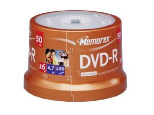 memorex 4.7GB 16X DVD-R Printable 50 Packs Disc Model 04755