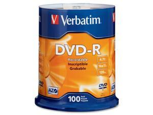 Verbatim 4.7GB 16X DVD-R 100 Packs Disc Model 95102