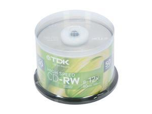 TDK 700MB 12X CD-RW 50 Packs Disc Model 48275