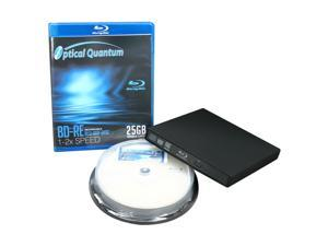 Optical Quantum BD-R and BD-RE Disc w/ SONY Blu-ray Burner Kit