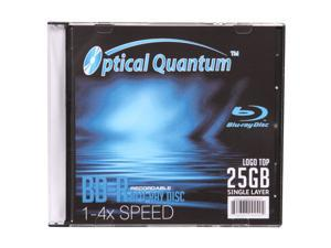 Optical Quantum 25GB 4X BD-R Single Logo Top Disc Model OQBDR04LTS
