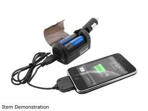 Accessory Power Black MultiSource USB Charger w/ iPhone, MicroUSB & MiniUSB Cable CH-TRANS4M
