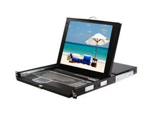 """StarTech CABCONS1716I 1U 17"""" Rackmount LCD Console with Integrated 16 Port IP KVM Switch"""