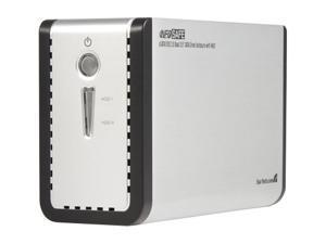 StarTech SAT3520U2ER Silver Dual SATA External Hard Drive Enclosure w/ RAID