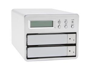 SANS DIGITAL MS2UB 2 Bay SATA to Firewire 800 (1394b) / USB 2.0 RAID 0 / RAID 1 Enclosure