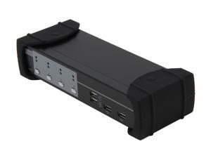 SYBA SY-KVM20107 4-Port USB VGA KVM Switch with Speaker, Microphone, Printer and Thumb Drive Support
