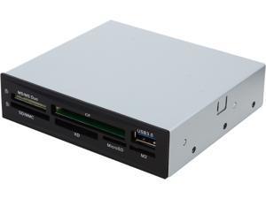 "SYBA CL-CRD20154 6-slot/1-port (5x Card Reader&#59; 1x CF&#59; 1x USB3.0) HUB, 3.5"" Bay&#59; USB3.0 Interface"