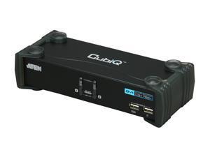 ATEN CS1762A 2-Port USB2.0 DVI KVMP Switch, Cables Included