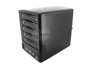 SNT SNT-ESATA350SESRC Black 5 Bay SATA to eSATA External RAID Enclosure Backplane Port Multiplier w/ 2 x 80m