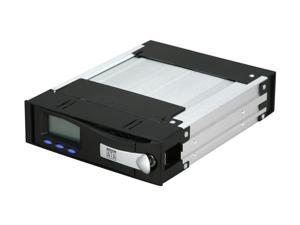 "ICY DOCK MB122SKGF-1B 5.25"" SATA Mobile Rack Removable Hard Drive kit with LCD Display short version"